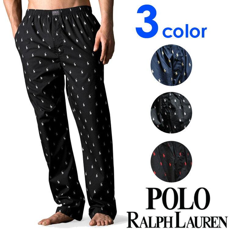 POLO RALPH LAUREN ポロ ラルフローレン メンズ ポロプレイヤープリント パンツ 3色展開[ブラック/黒/ネイビー/紺][S/M/L/XL][ポロ・ラルフローレン ラルフローレン パンツ 部屋着 ルームウェア ルームウエア パジャマ][送料無料][R972]大きいサイズ ブランド