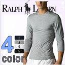 POLO RALPH LAUREN ポロ ラルフローレン tシャツ メンズ マイクロモダール クルーネック ロングTシャツ 4色展開[紺 灰色 白 黒][S/M/L/XL][ポロ・ラルフローレン ラルフローレン tシャツ 下着 インナー 長袖 ロンt]大きいサイズ[RA96]ブランド ラルフローレン Tシャツ