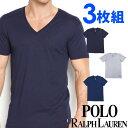 POLO RALPH LAUREN ポロ ラルフローレン メンズ Vネック 半袖 Tシャツ 3枚セット ネイビー オーシャンブルー ライトグレー S M L XL おしゃれ ブランド 大きいサイズ [あす楽][rcvnp3u2o /LCVN]