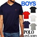 POLO RALPH LAUREN boys ポロ ラルフローレン ボーイズ 半袖 Vネック Tシャツ ポロプレイヤー 5色展開 L/XL ユニセックス メンズ レディース 男女兼用 トップス ブランド 323674983