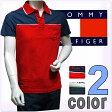 TOMMY HILFIGER DENIM トミーヒルフィガー デニム メンズ ポロシャツ バイカラー 2色展開[ネイビー 紺 レッド 赤][S/M/L/XL/XXL][ポロ半袖シャツ スポーツウェア][ヨーロッパ仕様][1953520520]大きいサイズ ブランド【送料無料】