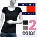 【楽天最安値挑戦中】【あす楽対応】TOMMY HILFIGER トミーヒルフィガー半袖Tシャツ トップス ブラック ブランドTシャツ レディース