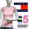 ショッピングHILFIGER TOMMY HILFIGER トミーヒルフィガー レディース Tシャツ ラインストーン 5色展開[ピンク 紺 緑][XS/S/M/L/XL][半袖 ショートスリーブ ティーシャツ][ヨーロッパ仕様][1M51524461]大きいサイズ ブランド[5,400円以上で送料無料]
