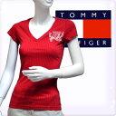 "TOMMY HILFIGER DENIM トミーヒルフィガー デニム レディース""ネルダ""VネックドットTシャツ リップスティックレッド(Women's NELDA VN T-shirts)[XS/S/M/L/XL][半袖Tシャツ ショートスリーブ][ヨーロッパ仕様][1656216242]大きいサイズ ブランド"