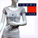 TOMMY HILFIGER DENIM トミーヒルフィガー デニム レディース クルーネックTシャツ アイスグレー[XS/S/M/L/XL][半袖Tシャツ ショート..