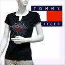 "TOMMY HILFIGER DENIM トミーヒルフィガー デニム レディース ""ニーラ""スリットフロントクルーネックTシャツ ブラック(Women's NILA CN T-Shirts)[XS/S/M/L/XL][半袖 ショートスリーブ][ヨーロッパ仕様][1656216231]大きいサイズ ブランド"