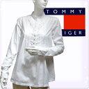 TOMMY HILFIGER DENIM トミーヒルフィガー デニム レディース 長袖シャツ クラシックホワイト 白 レイヤードフリル[XS/S/M/L/XL][長..