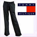 "TOMMY HILFIGER トミーヒルフィガー レディース ""ニュートミー""フリースパンツ マスターズブラック(Women's NEW TH FLEECE PANT)[ボトムス ルームウェア ルームウエア リラックスウェア 運動][1H52913862]大きいサイズ ブランド"