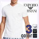 EMPORIO ARMANI[エンポリオアルマーニ]メンズ tシャツ Vネック イーグルロゴ コットンTシャツ[ブラック 黒 ホワイト 白][下着 肌着 半袖ティーシャツ アルマーニ ルームウェア ブイネック][mens][111131-1W555]大きいサイズ[5,400円以上で送料無料]ブランド