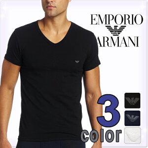 エンポリオアルマーニ ストレッチ コットン Tシャツ ブラック ホワイト ネイビー