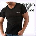 EMPORIO ARMANI エンポリオアルマーニ メンズ tシャツ vネック 半袖Tシャツ ライト[黒 ブラック black][ティーシャツ ブイネックTシャツ トップス アルマーニ 下着 アンダーウエア インナー][111333-3P569]ブランド 大きいサイズ[02P02Mar14]