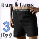 POLO RALPH LAUREN ポロ ラルフローレン ボクサーパンツ メンズ クラシックコットン スリーニット ブラック 3枚セット[ブラック/黒][S/M/L/XL][ポロ・ラルフローレン ラルフローレン インナー ルームウェア ブリーフ][5,400円以上で送料無料][RY73B]ブランド