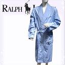 POLO RALPH LAUREN ポロ ラルフローレン コットン バスローブ メンズ ストライプ[青 ブルー 水色 しま ボーダー][S/M/L/XL][ポロ・ラ..