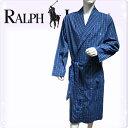 POLO RALPH LAUREN ポロ ラルフローレン コットン バスローブ メンズ チェック[青 ブルー 水色 チェック柄 ギンガムチェック][S/M/L/X..