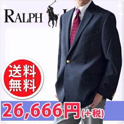 LAUREN BY RALPH LAUREN ラルフローレン メンズ 2ボタン ブレザー ジャケット ネイビー(Men's Blazer NAVY)[紺ブレザー 紺ブレ フォーマルウェア 上着][送料無料]大きいサイズ ブランド 春 秋 冬