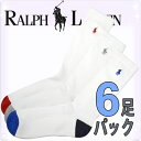 POLO RALPH LAUREN �ݥ� ���ե?��� ��� ���������ݡ��� �ϥ����å��� �ۥ磻�� �� 6­���å� 6­�ȷ��� [821006pk4whast]�ڳڥ���_����...