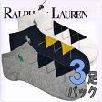 POLO RALPH LAUREN ポロ ラルフローレン 靴下 メンズ アーガイル ソックス 3足セット 3足組靴下[827024PKAS]ラルフローレンソックス ショート くるぶし ブランド 大きいサイズ 3パック【楽ギフ_包装】