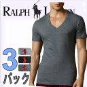 POLO RALPH LAUREN ポロ ラルフローレン tシャツ メンズ Vネック 3枚セット ラルフローレンTシャツ[LCVN]