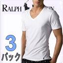 POLO RALPH LAUREN ポロ ラルフローレン tシャツ メンズ Vネック 3枚セット ラルフローレンTシャツ ラルフtシャツ [LCVN]