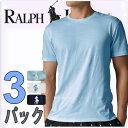 POLO RALPH LAUREN ポロ ラルフローレン tシャツ メンズ クルーネック 3枚セット ラルフローレンTシャツ[LCCN]
