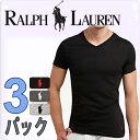 POLO RALPH LAUREN ポロ ラルフローレン tシャツ メンズ Vネック 3枚セット スリムフィット ラルフローレンTシャツ[LSVN]