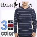 POLO RALPH LAUREN ポロ ラルフローレン メンズ サーマル 長袖Tシャツ ボーダー 3色展開[紺 赤 黒][S/M/L/XL][ポロ・ラルフロー...