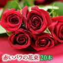 赤いバラの花束20本【画像確認サービス有】【楽ギフ_メッセ入力】【フラワーギフト】【クリスマス】 ギフト 贈り物 プレゼント ホワイトデー