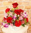 【送料無料実施中】バラとカーネーションのアレンジメントフラワー【楽ギフ_包装】【フラワーギフト】【母の日】