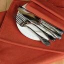 TABLE FORMULA ベルギーリネン テーブルランナー 50x140 フォックス色