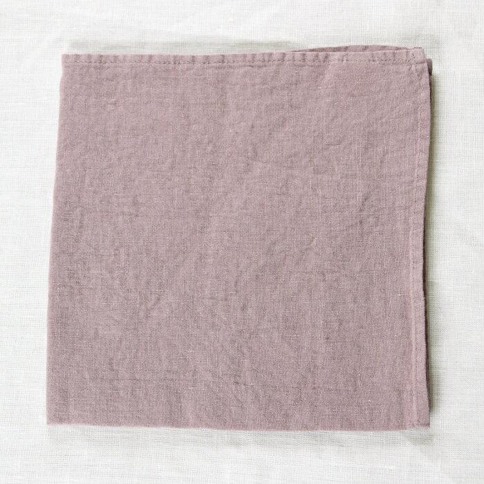 OXYGEN リネン ハンカチ ナプキン 45x45 パウダー色