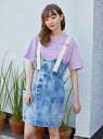 【公式】MILKFED.(ミルクフェド)CHEMICAL WASH MINI OVERALLS