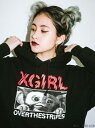 X-girl(エックスガール)【WEB限定】GREMLINS X X-GIRL X OVER THE STRIPES SWEAT HOODIE