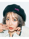 ショッピングウール 【公式】X-girl(エックスガール)MILLS LOGO PIPING WOOL BERET