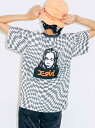 X-girl(エックスガール)CHECKERED FACE S/S TEE