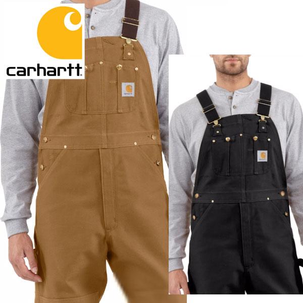 [再入荷]Carhartt カーハート正規品Men's Duck Bib Overall R01ブラウン ダック ビブ オーバーオール USA企画サロペット バイク ツーリング 大きなサイズ 海外買い付けワークウェア 作業着 ヒップホップ 【楽ギフ_包装】[0917]