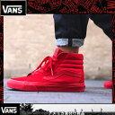 Vans ヴァンズSK8 Mono Red Skate Shoes バンズ スニーカー スケートハイCANVAS VN000TS9JGJ 赤い靴 レッド海外買い付け【あす楽対応】【楽ギフ_包装】[0317]