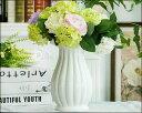 【花瓶】【花器】【陶器】【フラワーベース】【北欧】【花入れ】 【アンティーク】 ホワイト(白)おしゃれ