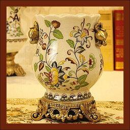 花瓶 花器 フラワーペース 花入れ 陶器 アンティーク 置物 オブジェ おしゃれ 北欧