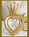 【訳あり】フォトフレーム 王冠 アンティーク 写真立て プレゼント フォトスタンド ハート型 ギフト ロマンチック 姫系 クラシック オーバル 結婚祝い 贈り物 内祝い 出産祝い 可愛い 真珠 おしゃれ ラインストーン プレゼント