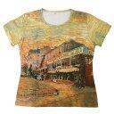 【アート半袖・プリントTシャツ】フィンセント・ファン・ゴッホ『アニエールのレストラン・ド・ラ・シレーヌ』[T-W020-GO22](ティーシャツ 婦人服 レディース 半そで 夏服 夏物 トップス ティシャツ かわいい おしゃれ 半袖ティーシャツ 半袖tシャツ):532P17Sep16