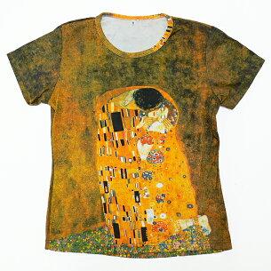 プリント Tシャツ グスタフ クリムト レディー スプリント シリーズ