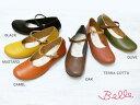 【楽天ランキング入賞】【BELLE(ベル)】とっても柔らか〜♪ナチュラル・ストラップの ぺたんこ靴[2WAY][日本製・神戸の靴ブランド]【日本製】[FOO-YK-0641](22.0・25.0・25.5)