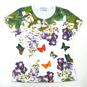 Butterfly Garden largest domestic & General ladies print t-shirts series