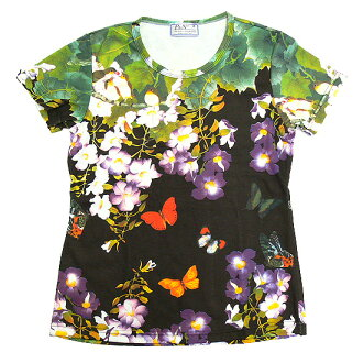 Butterfly Garden largest late and beauties of nature, pattern ladies print t-shirts series