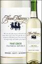 """《スリーシーヴズ》 ピノグリージョ """"カリフォルニア"""" リパブリック [2015] Three Thieves Pinot Grigio Republic California -BIELER・GOTT・SCOMMES- 750ml [カリフォルニアワイン スリーシーブス白ワイン]"""