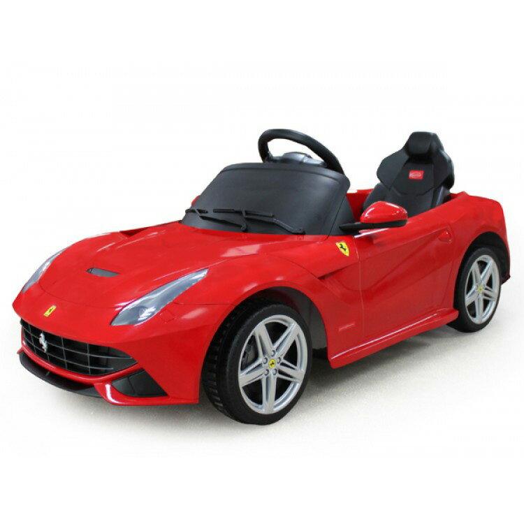 電動乗用子供用ラグジュアリーカーキッズベビーおもちゃトイフェラーリF12レッドライト点灯OKプロポコ