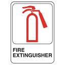 """おしゃれ ヴィンテージにも 看板 アメリカンサイン MADE IN USA インテリア ガレージ等 雑貨 """"Fire Extinguisher"""""""