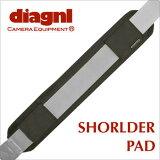 <公式>しっかりフィット。肩の疲労も軽減!/Diagnl (ダイアグナル)Shoulder Pad (ショルダーパッド)38mm用 Black {一眼レフ}{カメラストラップ}{シ