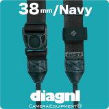 <公式>伸縮自在のカメラストラップ!/diagnl(ダイアグナル)/Ninja Camera Strap(ニンジャカメラストラップ)38mm Navy{一眼レフ}{伸縮自在}{カメ