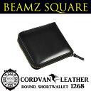 【BEAMZ SQUARE】 ビームススクエア 二つ折り財布 コードバンレザー ウォレット メンズ キャメル 馬革 BS1268